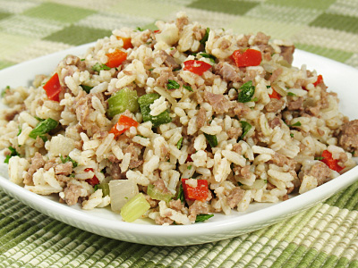 Cajun Recipes-CAJUN-CREOLE DIRTY RICE